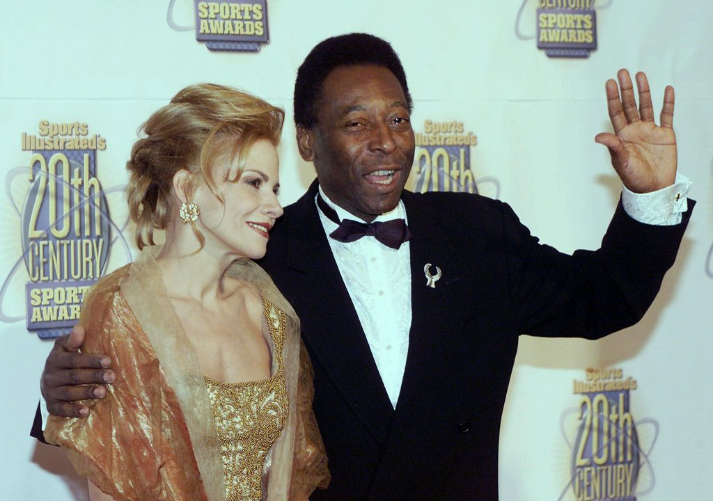 Brazilian soccer legend Pele and his wife arrive a