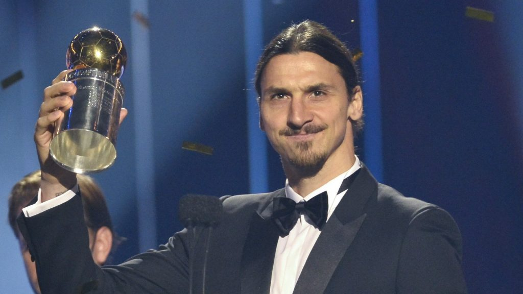 Zlatan Ibrahimovic and award